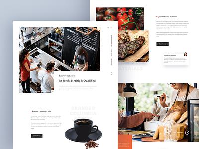 Restaurant Website testimonial order shop cafe schedule reserve coffee landing food restaurant web hiwow