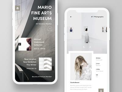 Museum App. landing picture photo hiwow menu details gallery mobile app
