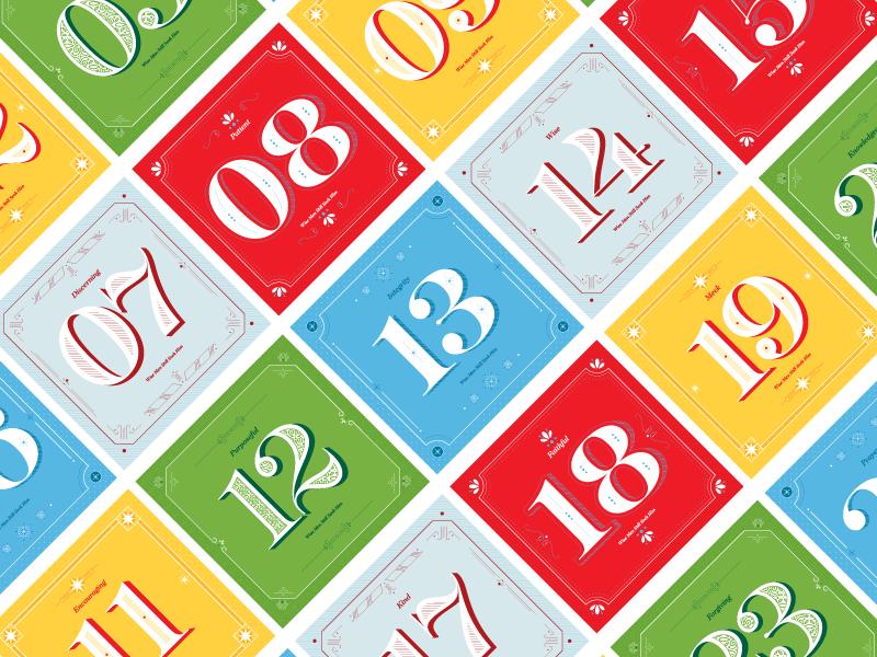 Christmas Advent Calendar monoweight numbers christ calendar advent christmas