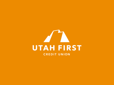 Utah First Credit Union Logo utah design mountain refresh branding logo