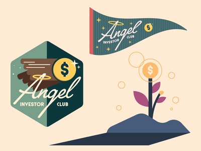Angel Investor Club technology tech finance logo design artwork art typography vector branding logo illustration design