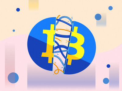 Bitcoin To Da Moon artwork art digital icon typography vector branding logo design illustration