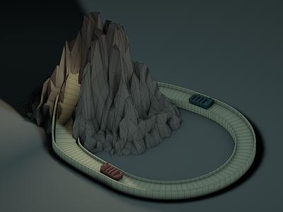 Flume cinema 4d c4d low poly render digital 3d flume adventure miniature isometrics