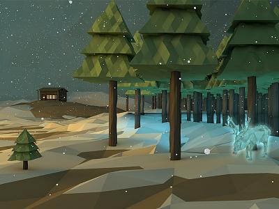 The Spirit of Christmas cinema 4d c4d low poly render digital 3d reindeer christmas holiday