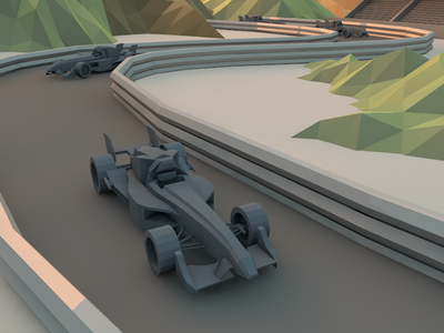 Grand Prix [WIP] cars racing car formula one 3d digital render low poly c4d cinema 4d