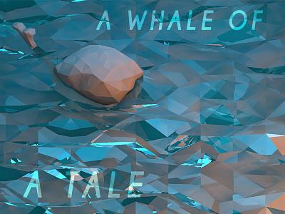 Whale of a Tale cinema 4d c4d low poly render digital 3d model whale ocean water