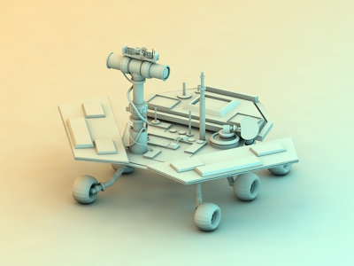 Mars Rover cinema 4d c4d low poly render digital 3d model mars mars rover rover space planets
