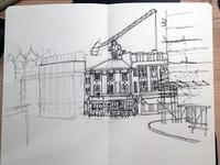 Wip, urban sketch, Clerkenwell, London