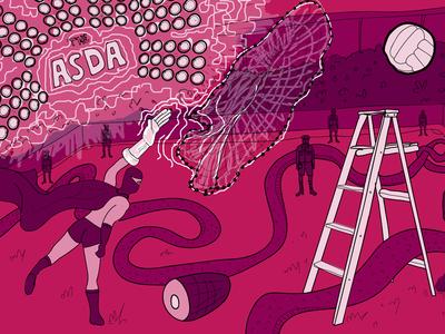 The Alderman's Toffee surreal cartoon illustrator illustration artwork podcast jambon ladder superhero