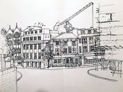 Clerkenwell, urban sketch