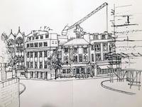 Clerkenwell, urban sketch