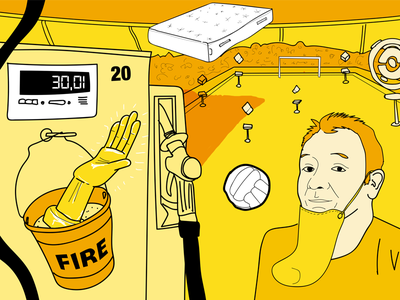 Consumer Special football pokestop chin petrol funny illustration surreal comedy podcast drawcast
