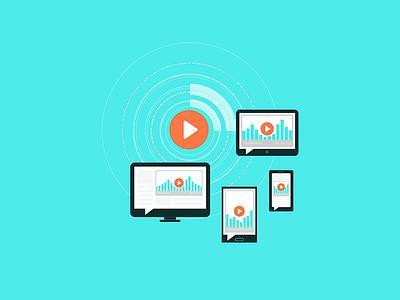Podcast audio player graphics audio graphic icon widget responsive design podcast