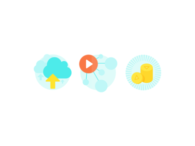 Podcast platform icons graphics audio podcast monetise distribute host icons