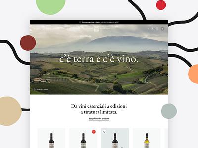 Cantina dei Colli Ripani ui branding website layout