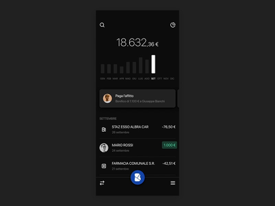 Mobile Banking Application account chart credit card balance video fintech ui finance app bank