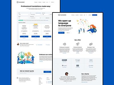 Translated Website clean ui illustration website layout