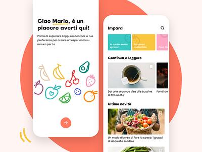 MyFoody Mobile Application supermarket illustration ui waste colorful shop list map food mobile application