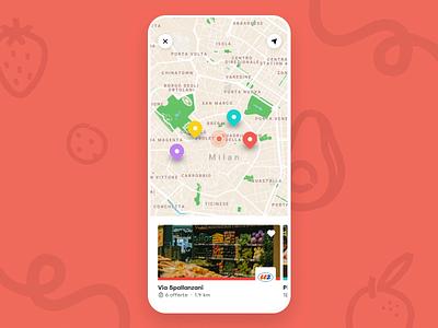 Map Prototype shops ui application mobile locations pins principle prototype map