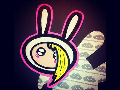 Fiona - Adventure Time - handmade stickers