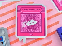 Pinky cartridge holographic sticker
