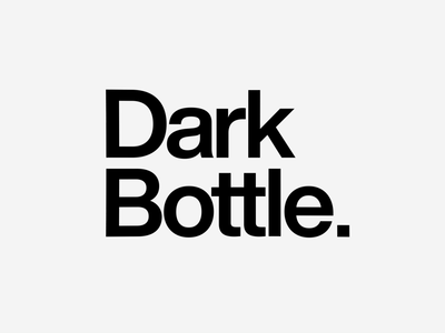 ✨ Dark Bottle - Liquid Logo Animation  #4 mark type mark logo mark typography logo typography art typography logo animation animation