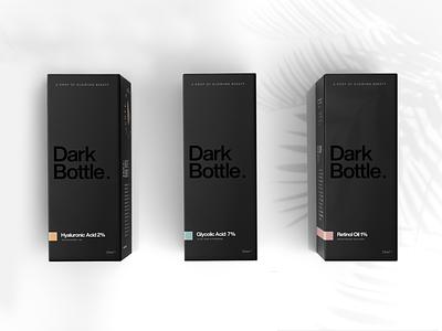 ✨ Dark Bottle - Skincare Packaging Line #5 skincarepackaging skincare packagingdesign packaging package packaging design print