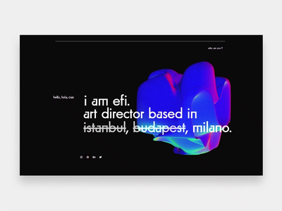 Blob on Landing Page 👀 gradient bubble abstract blobs blob animation landing page webdesign