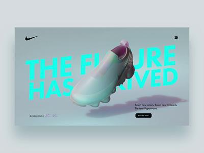 👟 Nike Vaporwave Concept #1 nike shoes nike nike vapormax glitch blender c4d after effect ui 3d animation