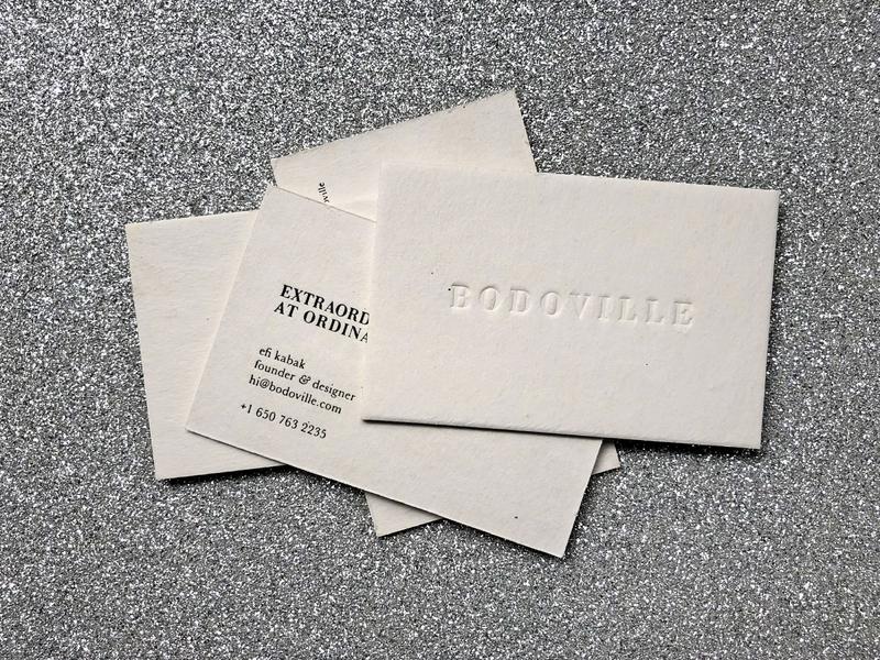 Bodoville - Business Cards ⚪ bodoville brandingstudio print letterpress business cards branding