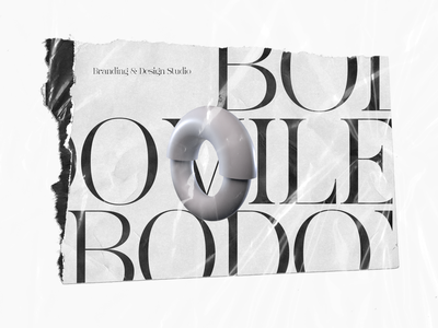 Type of Bodoville printed paper print branding typography art typography rebranding