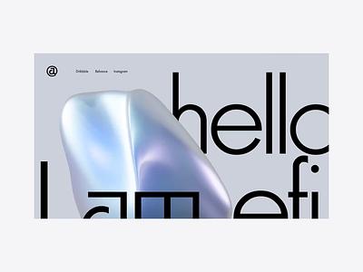 Otherworldly the Blob in Action. after effect blender helloefi.com futura futuristic portfolio page webdesigns portfolio personal website animation