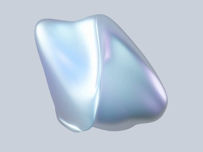 Otherworldly the Blob, Alone. futuristic shape blender webgl web animation futuristic loop animation loop animations