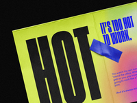 TOO HOT FOR WORK. ⚫ condensed type design typedesign type art typeface type typography art typography hot