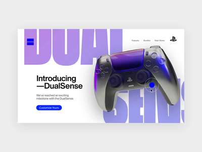 PS DualSense Controller - Makeover 🕹️ #2 dualsensecontroller dualsense playstation 3d concept webdesign animation