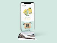 Bevande Futuriste / Mobile Landing Page