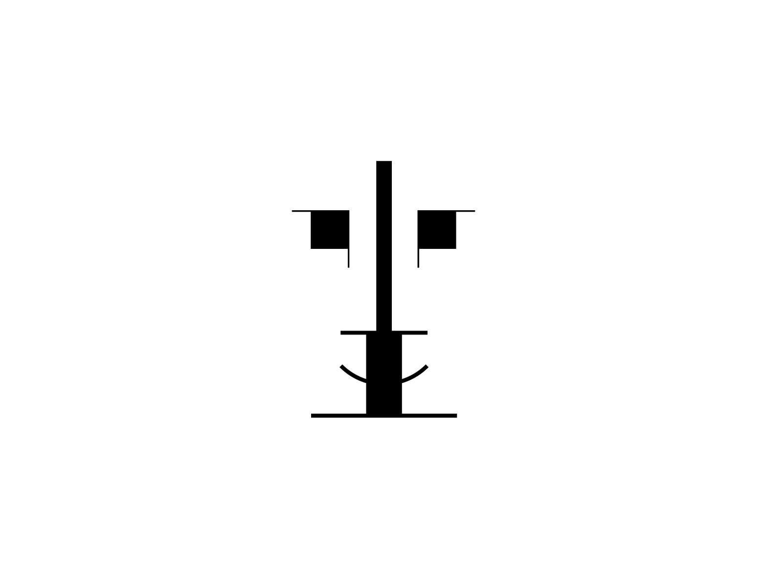 Bauhaus Couple // Gestalt bauhauslove bauhauscouple bauhaus logo gestalt love human couple 2d animation dessau modernism signet design silhouette icon logo bauhaus 2d