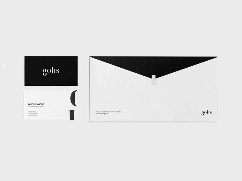 Karolina Golis // basic stationary typography design 2d brand logo stationary design branding design business card stationary logo design branding