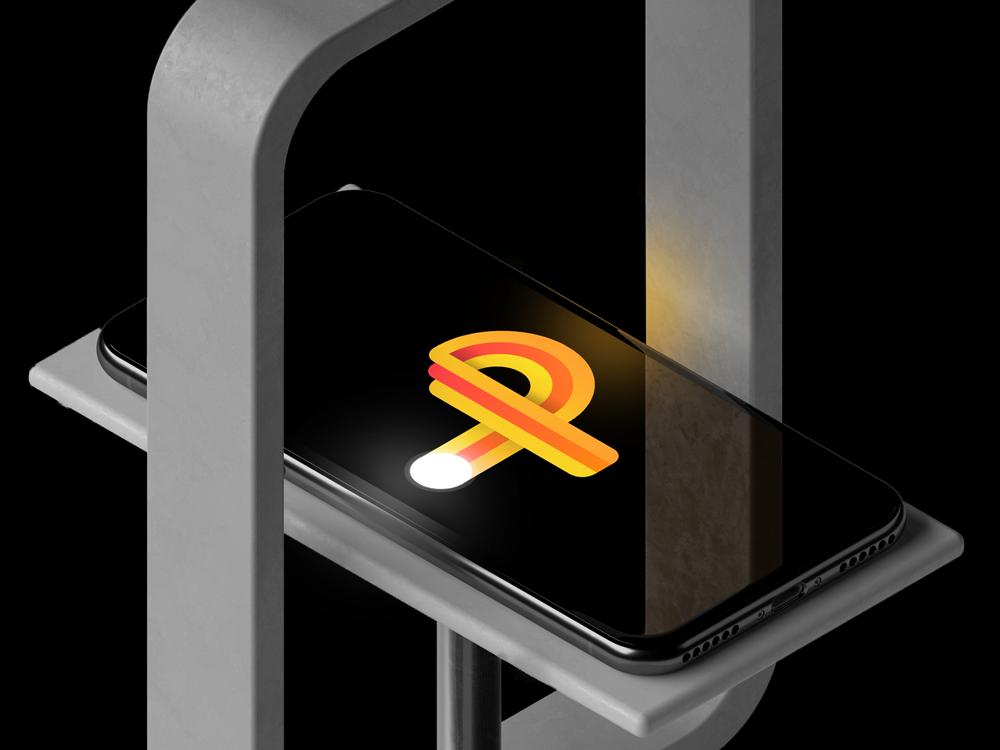 Pong - App icon design iphone pong logo gradients ping pong icon design gradient icon icon game app 2d p letter p logo atari