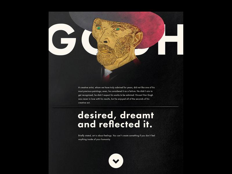 Fame or Love - Article Design layout drawing sketch vangogh van gogh art medium articles typography illustration article visual set