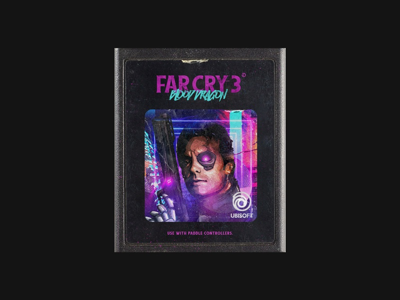 Far Cry 3: Blood Dragon - Atari 2600 Cartridge Design futurewave cover game gamecover ubisoft vaporwave retrowave retro cartridge atari2600 atari blooddragon farcry