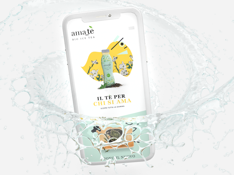 Bevande Futuriste - Mobile Landing Page Concept squishy drink futurism artwork webdesign website branding design mobile ui ui  ux ui uidesign mobile