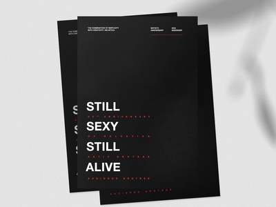 60th Anniversary of Helvetica - Poster
