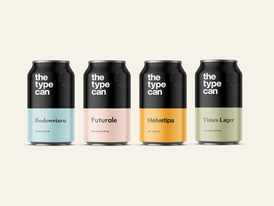 🍺 The Type Can - Beer for type lovers. #2 beer branding beer label typography branding branding design branding concept branding and identity type typography art typogaphy beer beer can helvetica futura bodoni times new roman