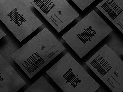👟 Dopies - Footwear Retailer Branding Concept #5 spot business card spot varnish varnish 2d design logo businesscard dopies branding design branding concept branding business cards design business card design business card blackonblack black business cards