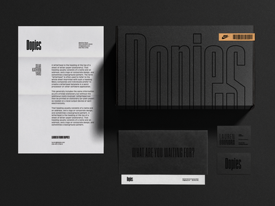 👟 Dopies - Footwear Retailer Branding Concept #6