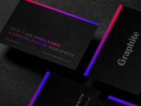 ☕ Graphite - Cold Brew Business Cards #6