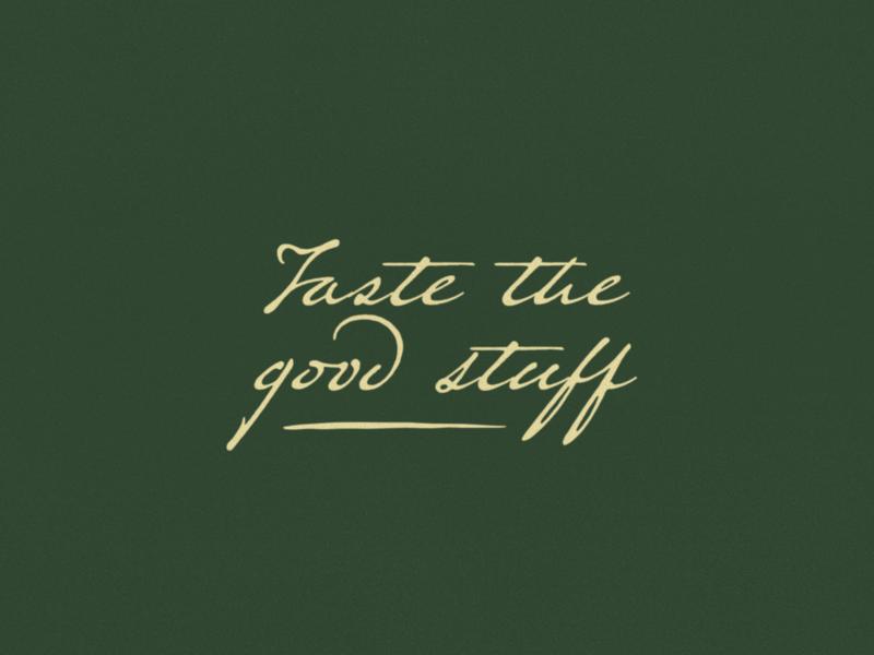 Taste the good stuff - Monte #2 motto typography branding agency brand identity brand design brand branding design branding handwriting