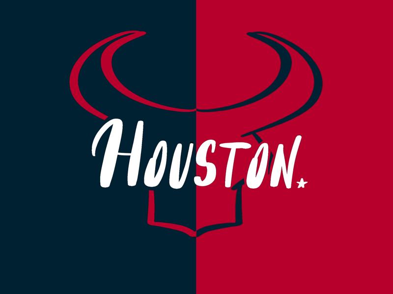 Houston Texans typography football nfl typography