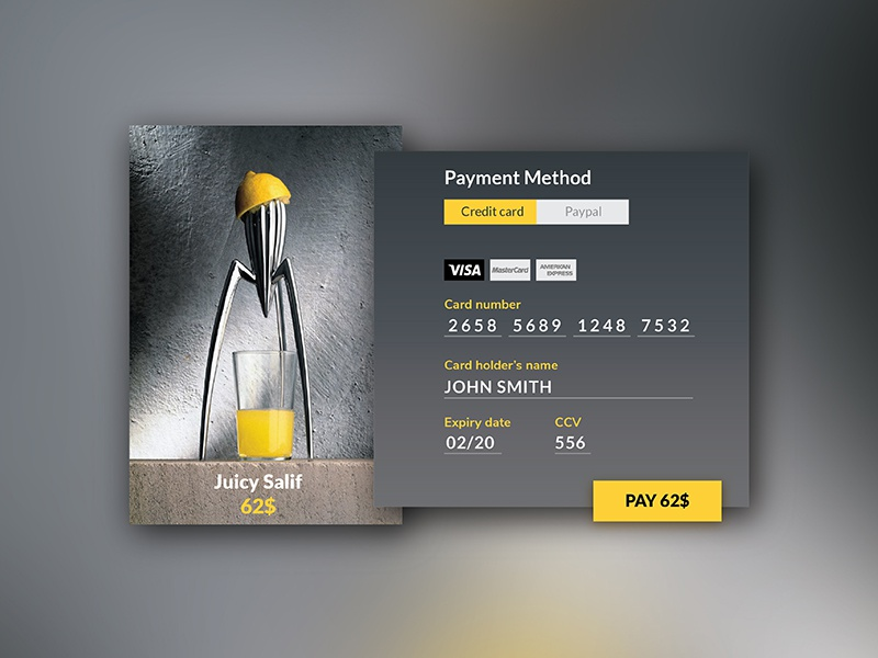 Dribbble  002 credit card checkout 01